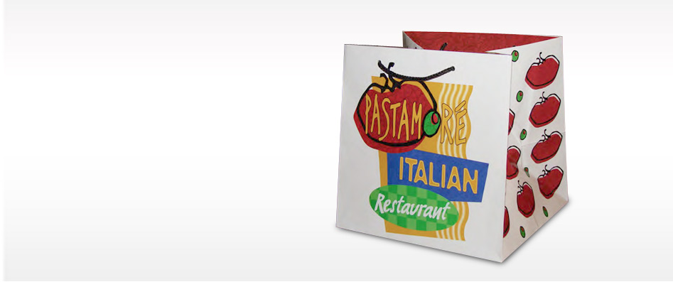 Restaurant Custom Take Out Bags