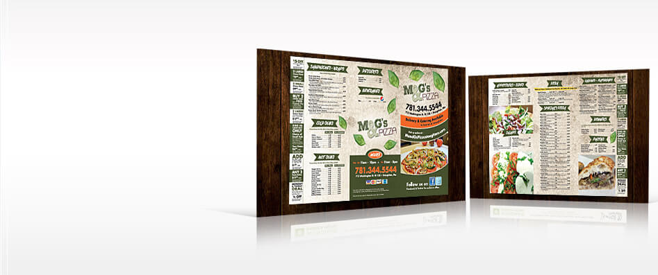 Professional Menu Design and Print